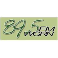 Logo de la radio WGRN The Grin 89.5 FM