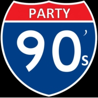 Logo of radio station 90's PARTY