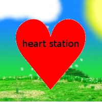 Logo of radio station Heart Station Radio