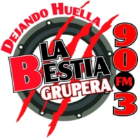 Logo of radio station XHML La Bestia Grupera 90.3 FM