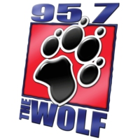 Logo of radio station KALF 95.7 The Wolf