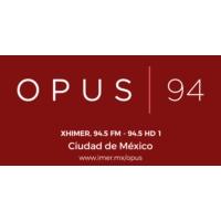 Logo of radio station XHIMER Opus 94.5 FM