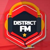 Logo of radio station District FM