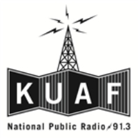 Logo of radio station KUAF NPR 91.3