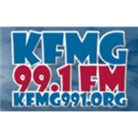 Logo of radio station KFMG 99.1