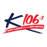 Logo of radio station K106.3 FM