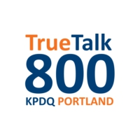 Logo of radio station KPDQ True Talk 800