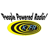 Logo of radio station KZFR People Powered Radio 90.1 FM