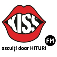 Logo of radio station KISS FM România