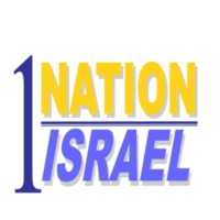 Logo of radio station 1 Nation Israel