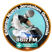 Logo de la radio Estereo Nueva Jerusalem  Guatemala 86.7FM