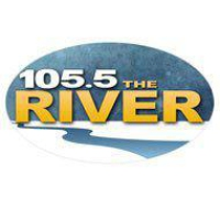 Logo of radio station KRBI The River 105.5