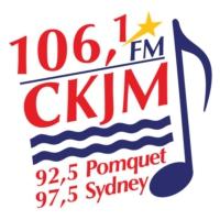 Logo of radio station CKJM 106.1 FM