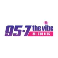 Logo of radio station KCHZ-FM 95-7 The VIBE