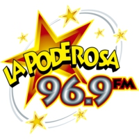 Logo of radio station XHMUG La Poderosa 96.9 FM