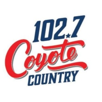 Logo of radio station KCYE 102.7 The Coyote