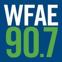 Logo of radio station WFAE 90.7 FM