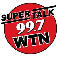 Logo of radio station SuperTalk 99.7 WTN
