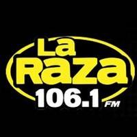 Logo of radio station La Raza 106.1 FM