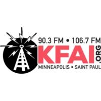 Logo of radio station KFAI 90.3