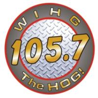 Logo de la radio WIHG 105.7 The HOG!