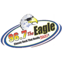 Logo de la radio WKGL The Eagle 96.7