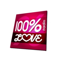 Logo of radio station 100% RADIO LOVE