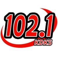 Logo of radio station KDKS 102.1