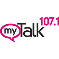 Logo of radio station KTMY MyTalk 107.1