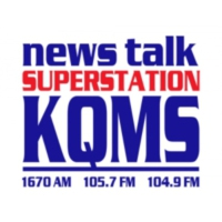 Logo of radio station KQMS News Talk 105.7