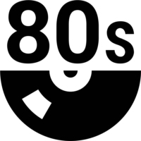 Logo of radio station 80ies