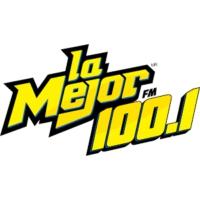 Logo of radio station La Mejor 100.1 FM