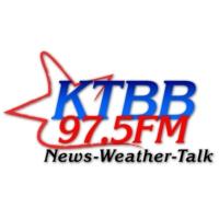 Logo of radio station KTBB 97.5 FM