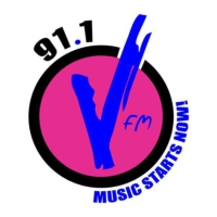 Logo of radio station V FM 91.1