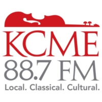 Logo of radio station KCME 88.7 FM