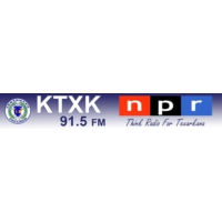 Logo of radio station KTXK 91.5 FM