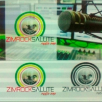Logo of radio station ZIMROCK SALUTE RADIO ONE