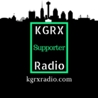 Logo of radio station KGRX Radio