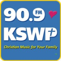Logo of radio station KSWP  90.9 FM