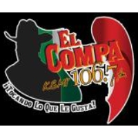 Logo of radio station KSMY El Compa 106.7
