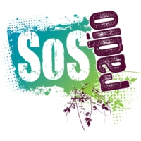 Logo of radio station KHMS SOS Radio