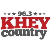 Logo of radio station 96.3 KHEY Country