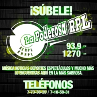 Logo of radio station La Poderosa RPL
