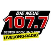 Logo de la radio Die Neue 107.7 mit dem LIVESONG RADIO