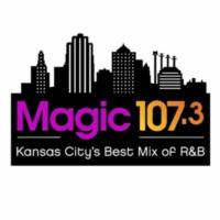 Logo of radio station KMJK Magic 107.3