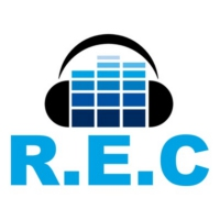 Logo of radio station R.E.C, 80's radio station