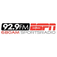 Logo of radio station WMFS-FM ESPN 92.9