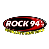 Logo of radio station KHTQ Rock 94 and 1/2