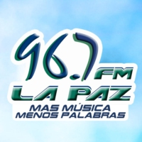 Logo of radio station FM La Paz 96.7