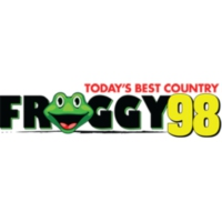 Logo of radio station KFGE Froggy 98